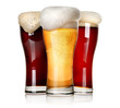 canvas print picture - Three beers isolated