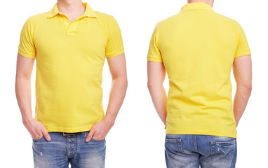 Young man with yellow polo shirt