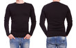 Young man with black t shirt - 81356802