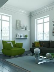 helle moderne Wohnung