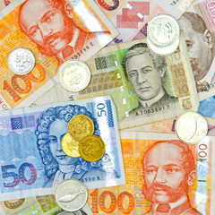 Croatian money square