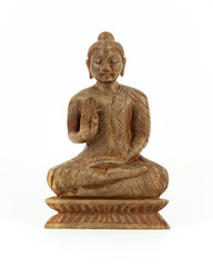Buddha-Statue aus Holz