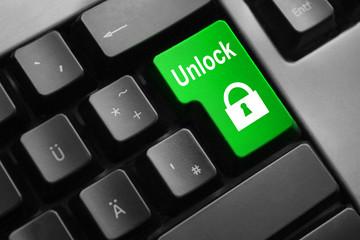 keyboard green button unlock symbol