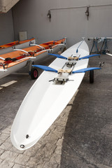 Racing rowing boat.