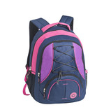 Fototapety Backpack standing isolated on white background