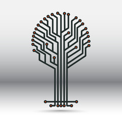 electronic board in the form of a tree