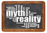 myth and reality word cloud poster