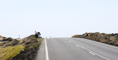 Carretera en Lanzarote, Canarias
