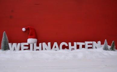 Weihnachten - Buchstaben rot/weiß