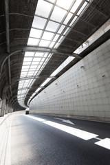 Empty tunnel of modern city