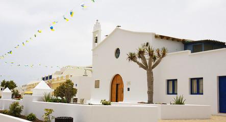 Iglesia en La Graciosa, Islas Canarias