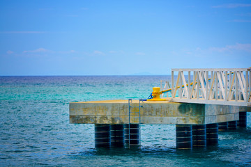Isolated stone pier