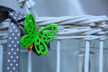 decorative green small butterfly