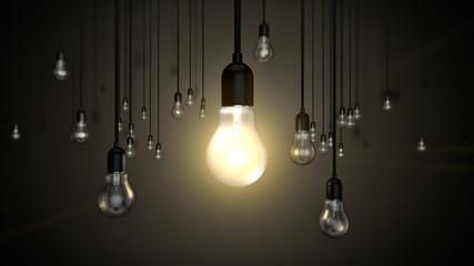 Hängende Glühbirnen