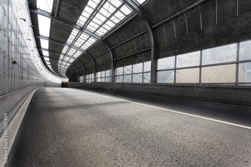 Empty tunnel of modern city - 81367469