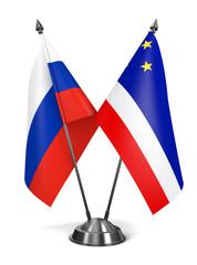 Russia and Gagauzia - Miniature Flags.