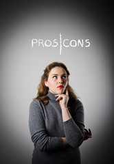 Girl in grey. Pros and cons.