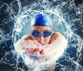 Woman swimmer