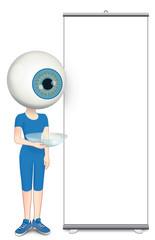 Totem comunicazione per oculista