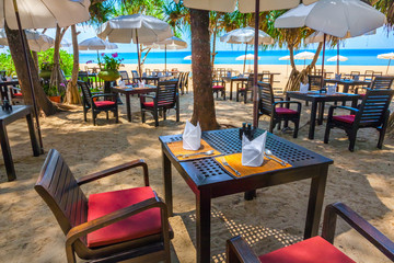 Cafe on beach