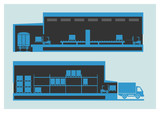 Warehouse. The unloading and loading process - 81371448