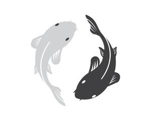 Yin and Yang Fish Vector