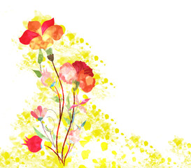 Spring Bouquet watercolor background