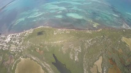 costa rio laguna selva y manglar vista al mar