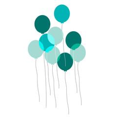 palloncini, giocare, colori, festa