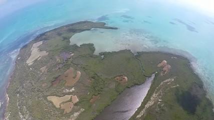 peninsula selva  mar caribe vista aerea