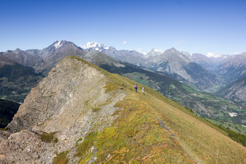 Panorama dall'alto della montagna