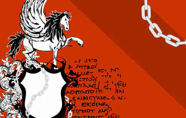 heraldic horse pegasus coat of arms background