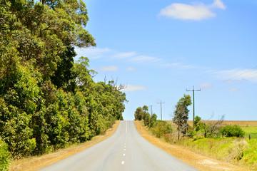 Asphalt road in australian rural area