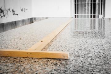 Wood on granite