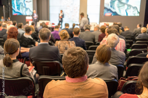 Audience at the conference hall - 81374412