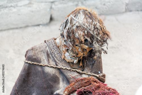 Plexiglas Begraafplaats Mummy Closeup