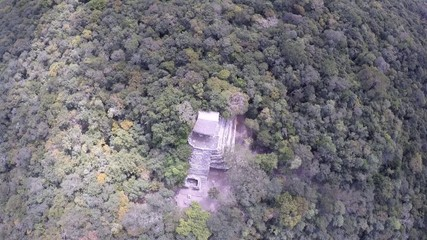 piramide pequeña coba , ruinas maya