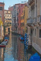Venice, Italy, canal in  Saint Polo quarter.