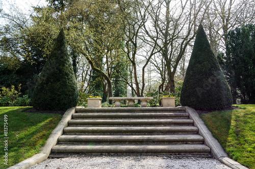 Fotobehang Trappen Stairs in a garden