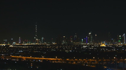 Nightlapse of Dubai Central from a rooftop