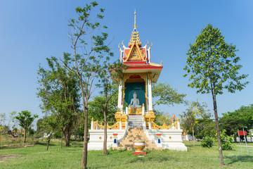 place of worship under the sunlight at Wat pamok worawihan