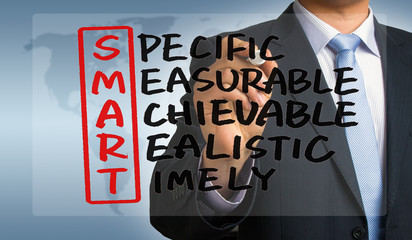 smart crossword handwritten by businessman