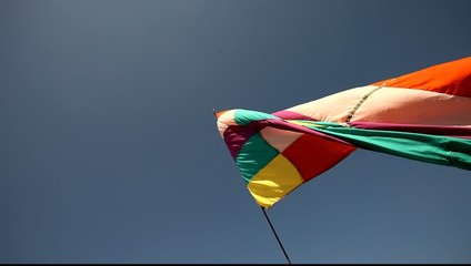 Colorful Flag in the wind