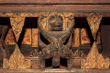 Ancient carvings on wood