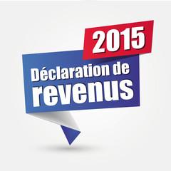 Déclaration de revenus 2015
