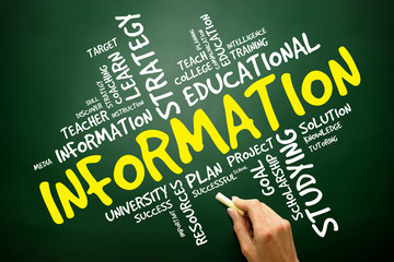 INFORMATION word cloud, education concept