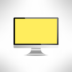 Realictic lcd monitor computer display. Tv screen. Vector