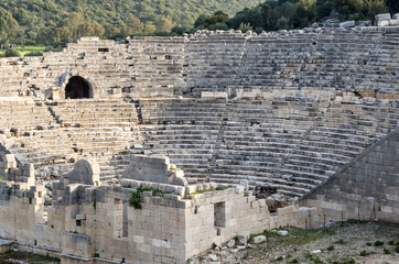 Ruins of Ancient amphitheatre in Patara, Turkey