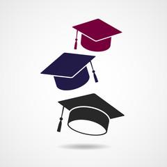 Graduation hat vector symbol