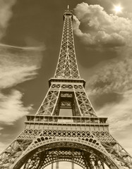 Eiffel Tower Scene ,Paris France
